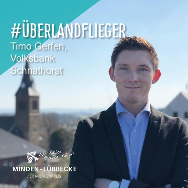 Timo Gerfen als Überlandflieger der Volksbank Schnathorst