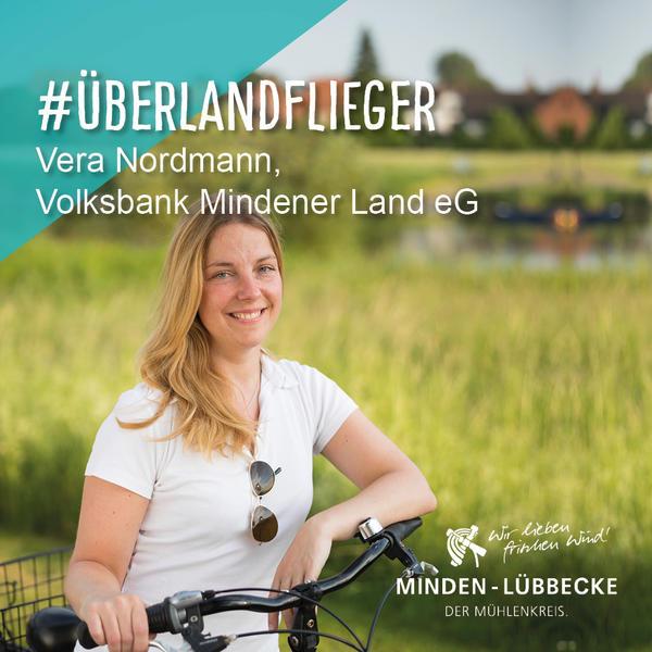 Überlandfliegerin Vera Nordmann, Volksbank Mindener Land eG
