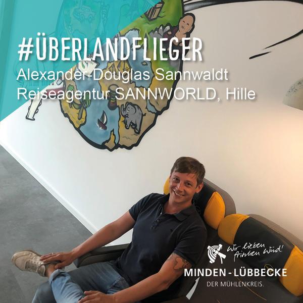 Überlandflieger Alexander-Douglas Sannwaldt, Reiseagentur SANNWORLD, Hille