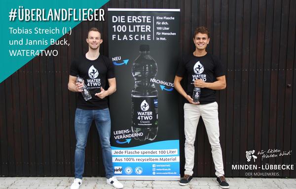 Die Überlandflieger Tobias Streich und Jannis Buck von WATER4TWO